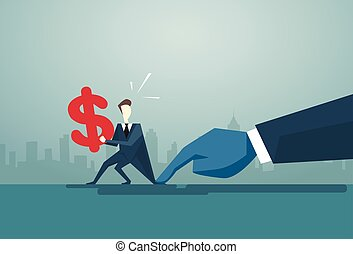 概念, 金融, ビジネス, ドル記号, 問題, ビジネスマン, 把握, 手, 危機, 人