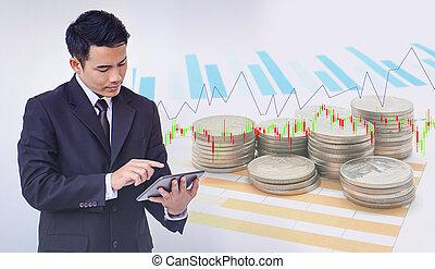 概念, 金融, ビジネス, 現代, 投資, 技術