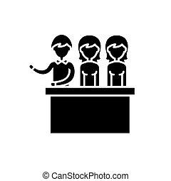 概念, 陪審, 裁判, 隔離された, イラスト, 印, バックグラウンド。, ベクトル, 黒, アイコン, シンボル