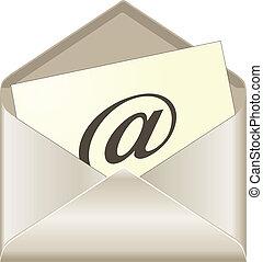 概念, 電子メール, ベクトル
