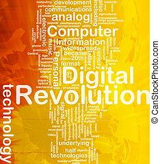 概念, 革命, 背景, デジタル