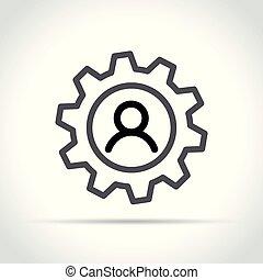 概念, 齿轮, 人类, 图标