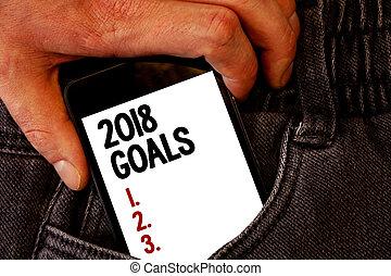 概念, 3.., テキスト, ジーンズ, 背中, 組織しなさい, 黒, 2018, 2., 赤, ブラウン, 計画, 始まり, 押す, text., 手, ポケット, 電話, 意味, ゴール, モビール, 未来, 手書き, 決断, 1.