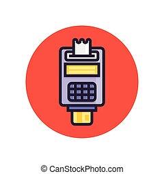 概念, card., ポイント, セール, pos, クレジット, terminal., 支払い