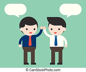 概念, co, ビジネス, 労働者, 2, スピーチ, 高く, ビジネスマン, 5, テンプレート, ブランク, ...
