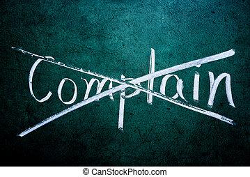 概念, complain, ∥そうする∥