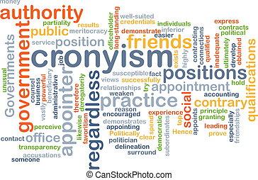 概念, cronyism, 背景