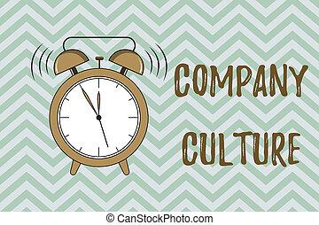 概念, culture., テキスト, 会社, 仕事, 執筆, 環境, 意味, 要素, 手書き, 従業員