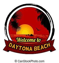 概念, daytona, 歓迎, tシャツ, 生産, 他, 印刷, 浜