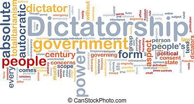 概念, dictatorship, 背景