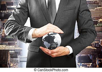概念, eco, 事務, 環境, 保護, 友好