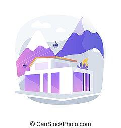概念, eco, 抽象的, 家, illustration., ベクトル