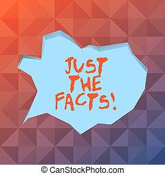 概念, facts., ただ, テキスト, 形, ブランク, 薄い 青, スタイル, 切口, ∥たった∥, 執筆, 州, なしで, スピーチ泡, 起きた, 背景。, ビジネス, 丁度, 何か, 装飾, 単語, きずもの, 端, 3d