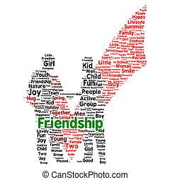 概念, friendshipword, 雲