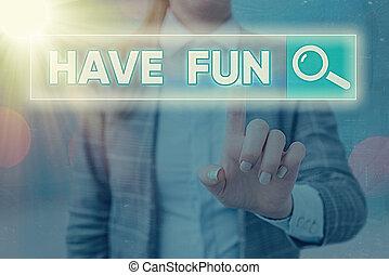 概念, fun., amusement., 提供, 任务, 商业, 有, 本身, 作品, 词汇, 正文, 享乐