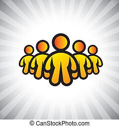 概念, graphic-, 大尉, &, cfo, また, ceo, リーダー, 概念, イラスト, 上司, followers., メンバー, 表す, のように, 人々, ポジション, リーダーシップ, ∥など∥, ベクトル, 労働者, チーム, ∥あるいは∥