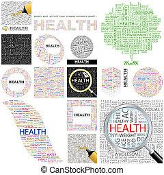 概念, illustration., health.