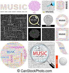 概念, illustration., music.