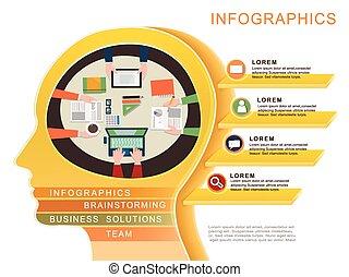 概念, infographic, デザイン, ビジネス, テンプレート