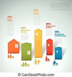 概念, infographic, デザイン, 家族, テンプレート