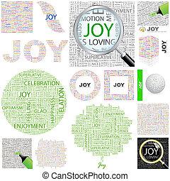 概念, joy., illustration.