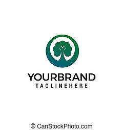 概念, lanscape, 木, 緑, ベクトル, デザイン, テンプレート, ロゴ