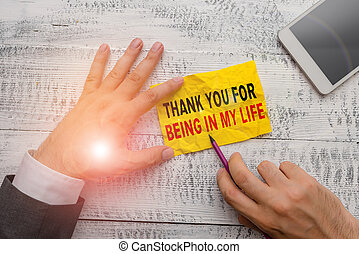 概念, life., あなた, 写真, 提示, 印, 感謝しなさい, テキスト, ある, 誰か, 情事, 私, あなたの, side.