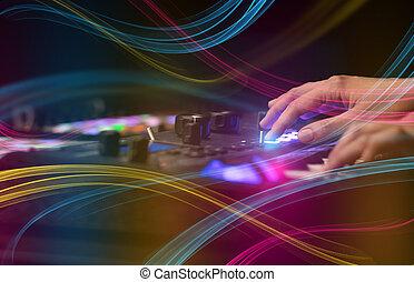 概念, midi, 音乐, 色彩丰富, 混合, vibe, 控制器