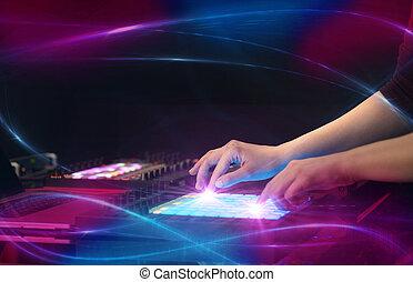 概念, midi, vibe, 波浪, 控制器, 音乐, 混合