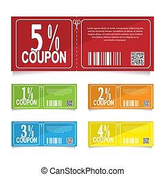 概念, percent., 附單, 銷售, 折扣, 設計, 4, 3, 2, 5, 1