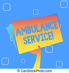 概念, service., テキスト, 国民, ファイル, 白紙, 緊急サービス, スペース, 健康, 保有物のホールダー, カラフルである, 手, 意味, 応答, 上げること, 内側。, 救急車, 手書き, 翼