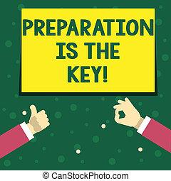 概念, success., 準備しなさい, テキスト, 勉強しなさい, 執筆, 準備, 意味, key., 学びなさい, 手書き, あなた自身, 達成