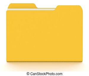 概念, white., folder/file, 3d