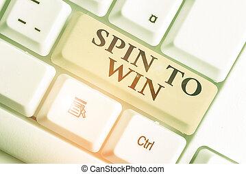 概念, win., 手書き, 意味, 回転, あなたの, ギャンブル, 幸運, カジノ, 運, risk., ゲーム, 試み, テキスト, 宝くじ