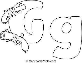 概説された, 手紙g, 銃