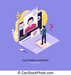 構成, ラップトップ, 顧客サポート