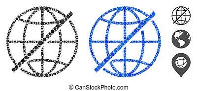 構成, 世界的である, 円, アイコン, ない, 点