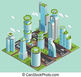 構成, 等大, 超高層ビル, 未来派, 隔離された