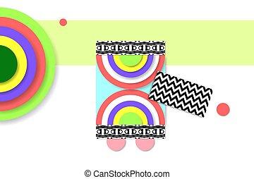 構成, 芸術, パターン, 抽象的, 現代, デジタル, 幾何学的