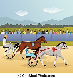 構成, 馬具, 平ら, 競争