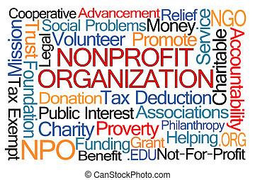 構成, nonprofit, 単語, 雲