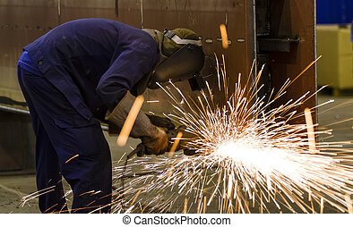 構造, こする, 鋼鉄, 工場, 車輪, 電気である