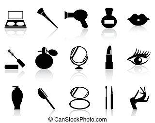 構造, セット, 化粧品, アイコン