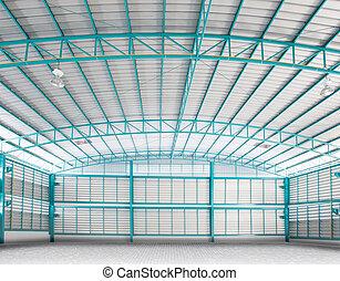 構造, 産業, 空, 中, 背景, 倉庫, 使用