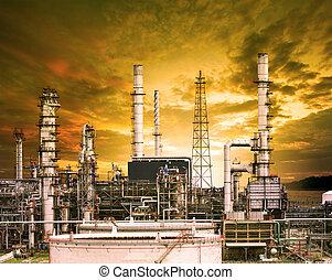 構造, 重い, 建物, 石油精製所, 外面, petro, 植物