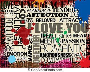 様々, 愛, 単語