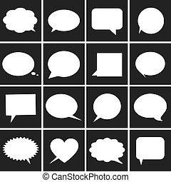 様々, 泡, スピーチ, アイコン