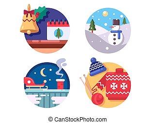 樂趣, 假期, 冬天, 聖誕節