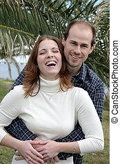 樂趣, 夫婦, 結婚, 年輕, 有