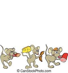 樂趣, 老鼠, 卡通